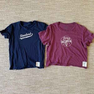 Lot of 2 one size fits all soft tees